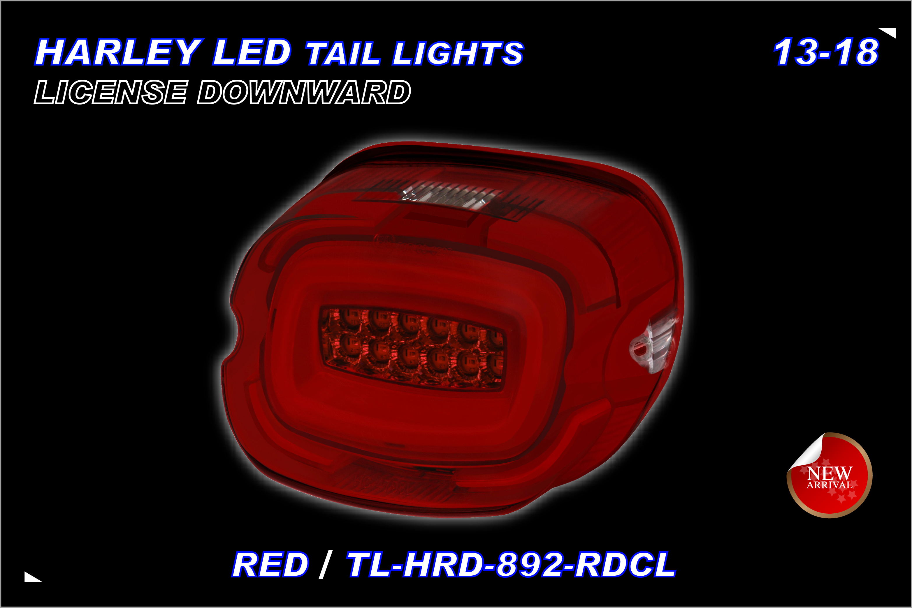 TST,MOTOR-HARLEY-TAILLIGHT-892RDCL